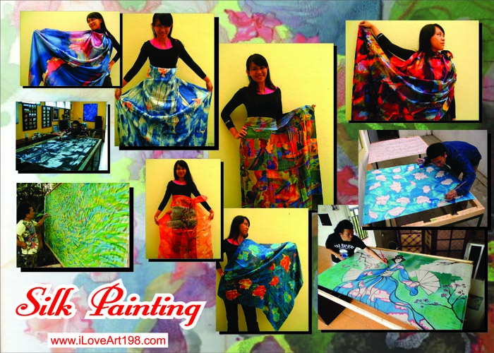 Silk painting for scraf
