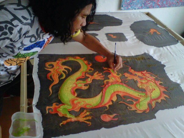 Silk painting for shirt