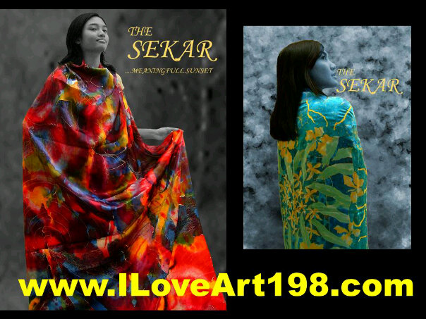 Silk painting for scarf