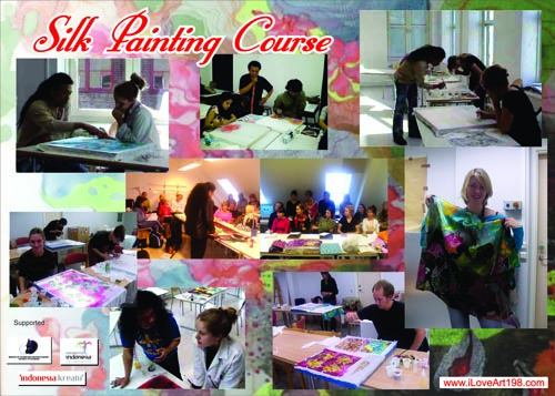 Silk painting course